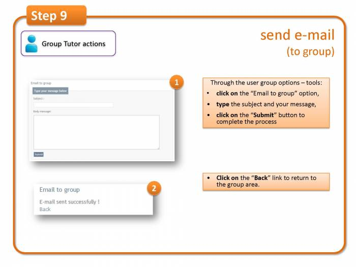 Step 9: send e-mail (to group)