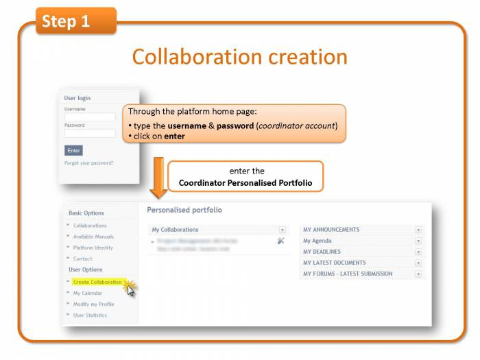 Step 1:Collaboration creation