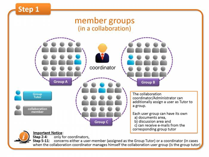 Step 1: member groups (in a collaboration)